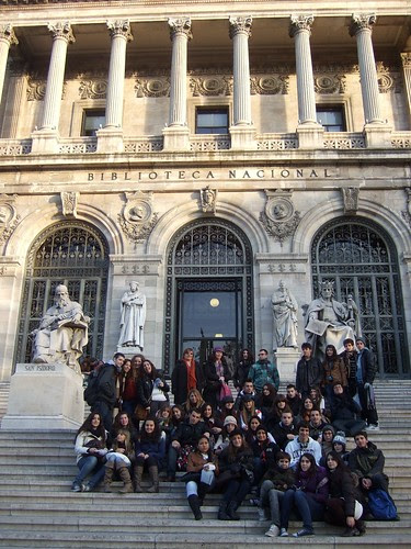 En la Biblioteca Nacional. Madrid 2011