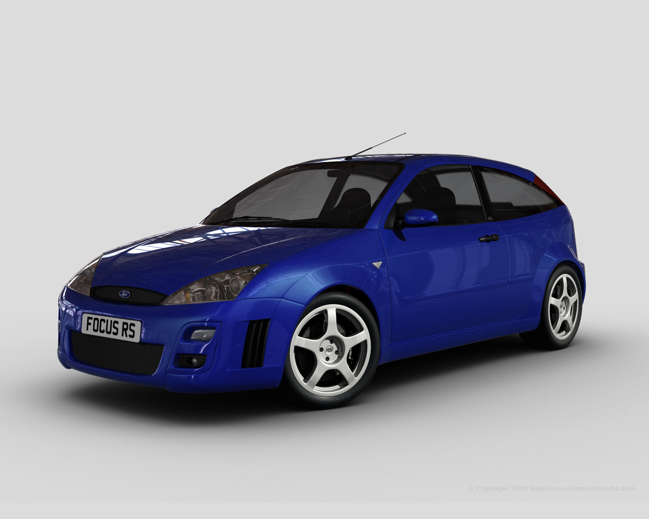 Focus RS in standard blue and