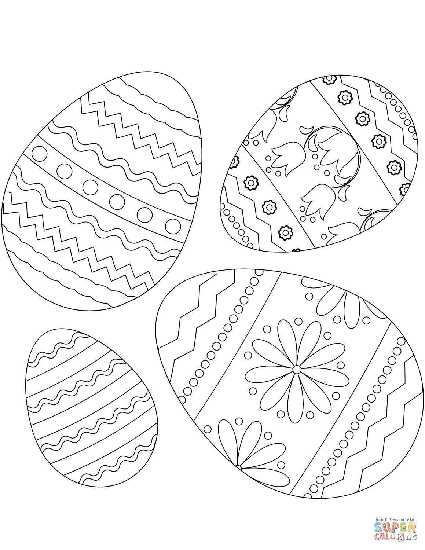 kleurplaten paasei kleurplaat