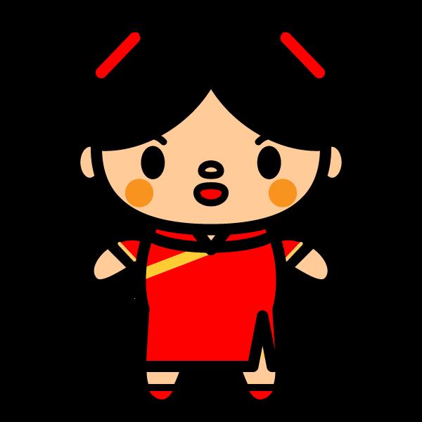かわいい中国人女性の無料イラスト商用フリー オイデ43
