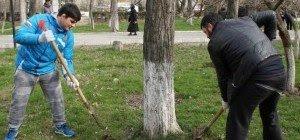 ДАГЕСТАН. Спортивная общественность Махачкалы провела субботник в одном из столичных парков