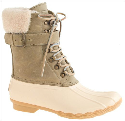 Le Fashion Blog -- Shoe Crush Sperry Top Sider For JCrew Ivory Duck Style Shearling Shearwater Buckle Winter Boots -- photo Le-Fashion-Blog-Shoe-Crush-Sperry-Top-Sider-For-JCrew-Ivory-Duck-Style-Shearling-Shearwater-Buckle-Winter-Boots.jpg