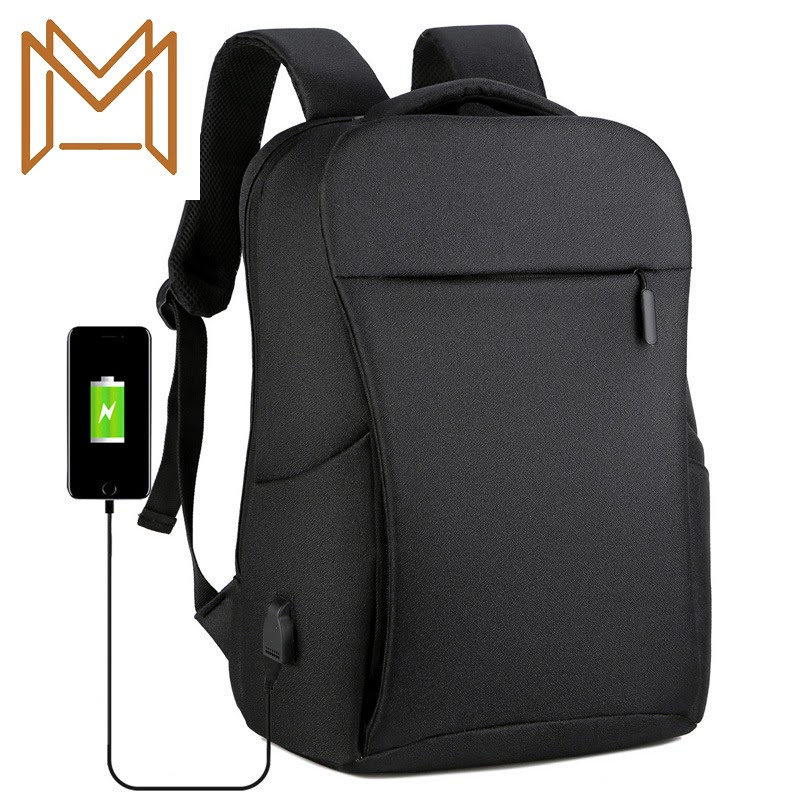 Cheap Small Business Business Computer Both Shoulders Package Usb Charge Backpack Leisure Time Usb Student Travel Both Shoulders