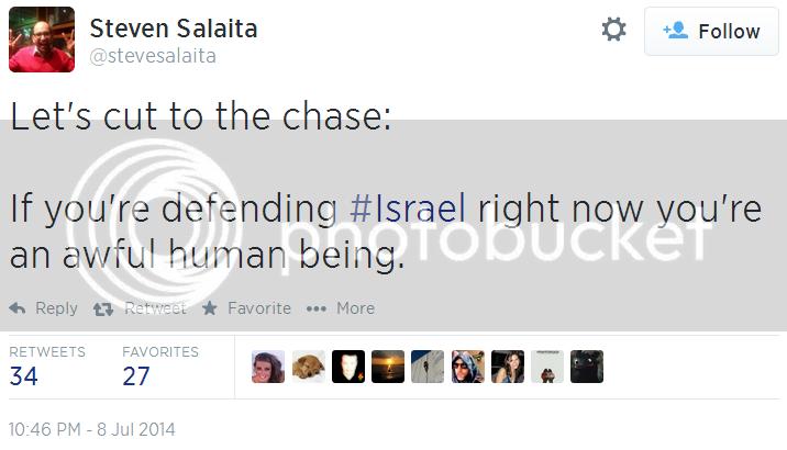 Professor Steven Salaita photo Twitter-_-stevesalaita_-Lets-cut-to-the-chase_-If-defending-Israel-horrible-person_zpsf943645a.png