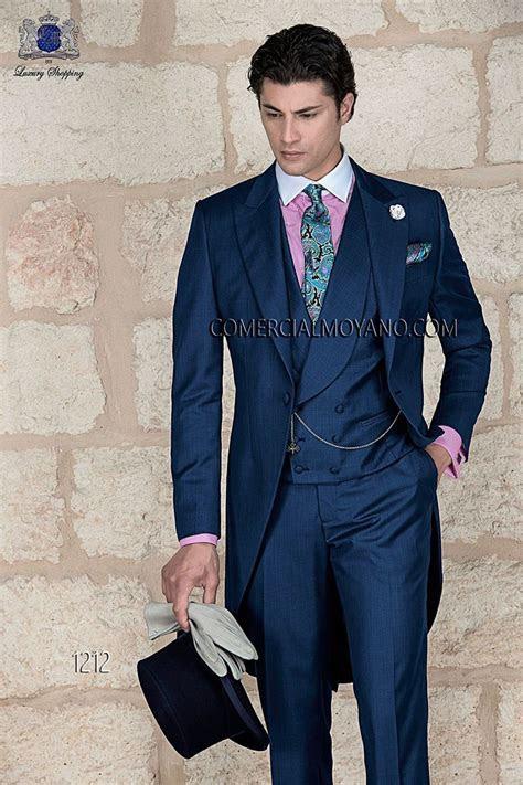 italian blue fil  fil wedding morning suit italian men