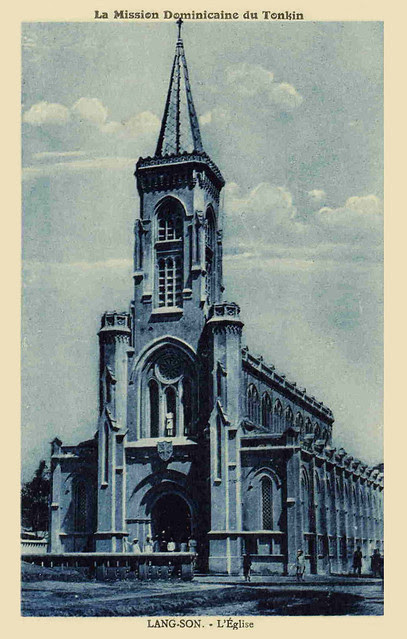INDOCHINE -LANG SON - EGLISE -MISSION DOMINICAINE DU TONKIN-années1910- 20