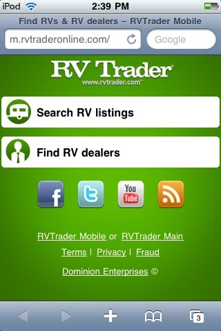 RV Trader Announces Launch Of New Mobile Site