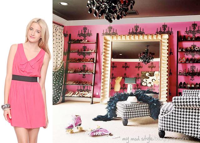 dress and room pinkblack