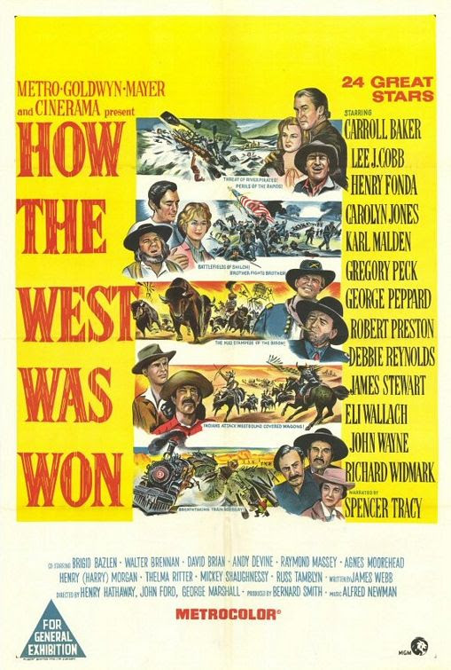 Image result for how the west was won movie poster
