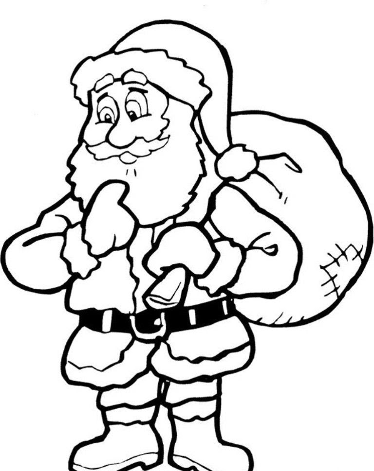 Santa Claus Printable - Coloring Home
