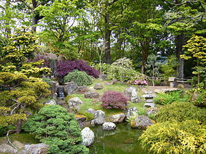 This is a Japanese garden which is located in ...