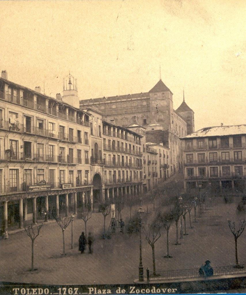 Plaza de Zocodover hacia 1870