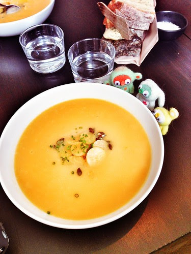 sunny soup at gro restaurant