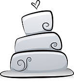 Wedding Cake Black And White Clipart Collection Cliparts