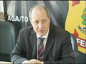 Delegado da Polícia Federal em Araguaína (Foto: Reprodução/TV Anhanguera)
