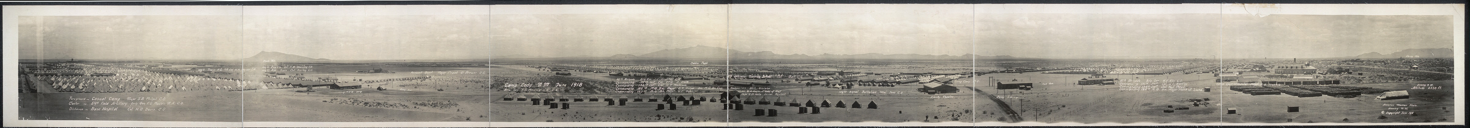 Camp Cody, N.M., June 1918; Brig. Gen. F. G. Mauldin, N.A. C.O.