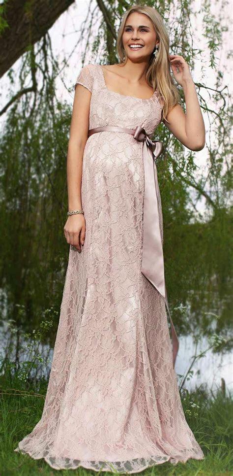Lace Maternity Long Wedding Dresses Short Sleeves Ideas