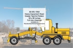 Heavy Equipment Road Grader Yard Art Woodworking Pattern - fee plans from WoodworkersWorkshop® Online Store - heavy equipment,Road Graders,tractors,yard art,painting wood crafts,scrollsawing patterns,drawings,plywood,plywoodworking plans,woodworkers projects,workshop blueprints