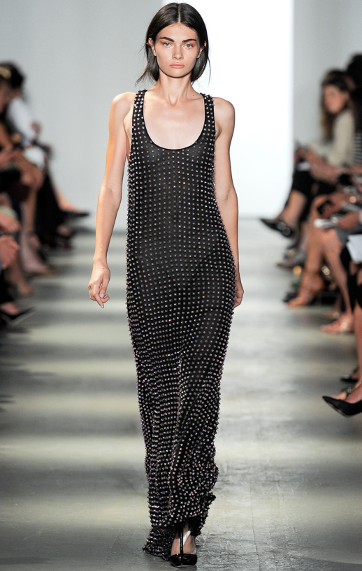 LE FASHION BLOG WES GORDON SS 2014 NYFW BLACK STUDDED MAXI DRESS 4 photo LEFASHIONBLOGWESGORDONSS2014NYFWBLACKSTUDDEDMAXIDRESS4.png