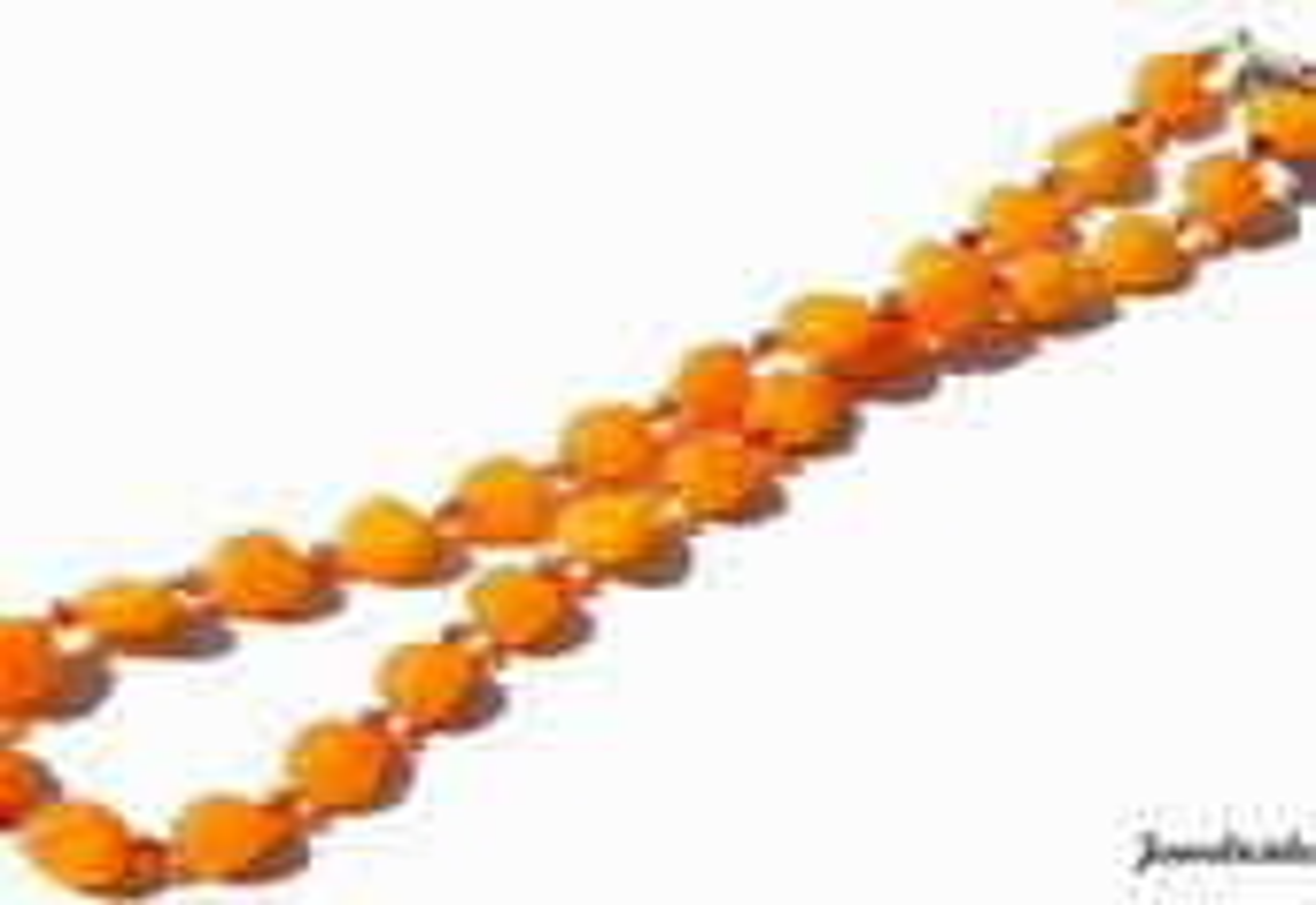 Bright Orange Necklace, Swarovski and Glass Nugget, Tangerine Dream