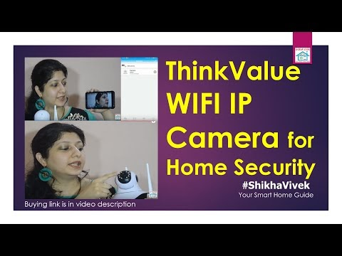 ThinkValue IP Camera T8855 Wireless HD IP WiFi Indoor Security Camera