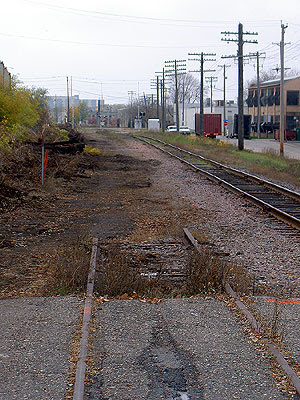 Rail lines to the west