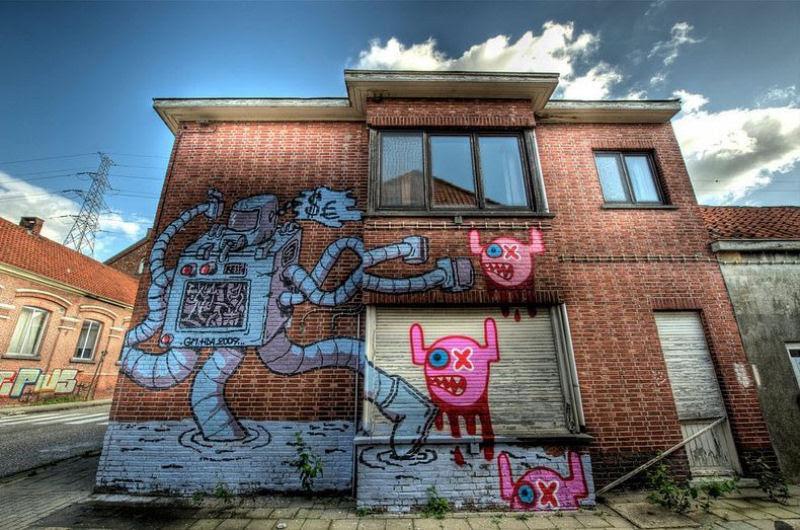A vila condenada de Doel e sua arte de rua surpreendente 06