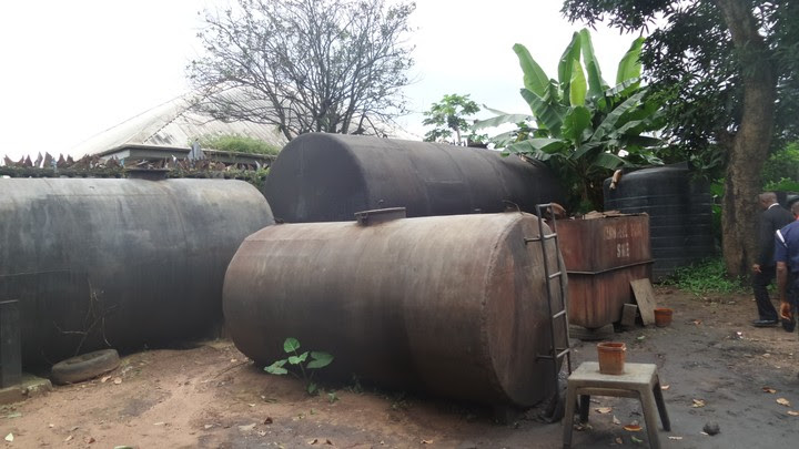 Photos Of Illegal Refinery Discovered In Imo