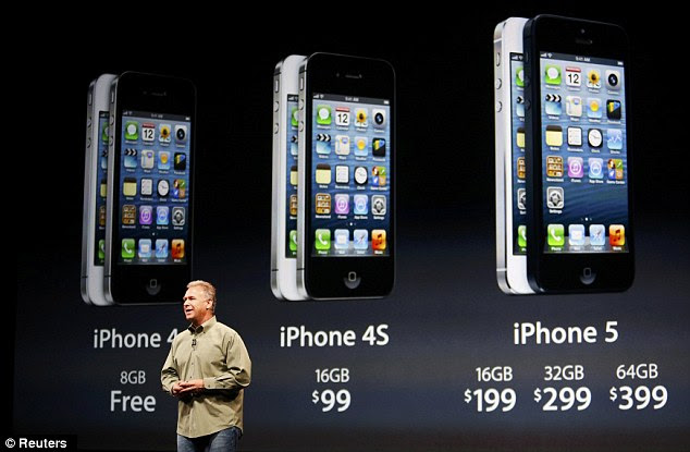 iPhone pricing: Previous models will take a drop as the 5 is rolled out.