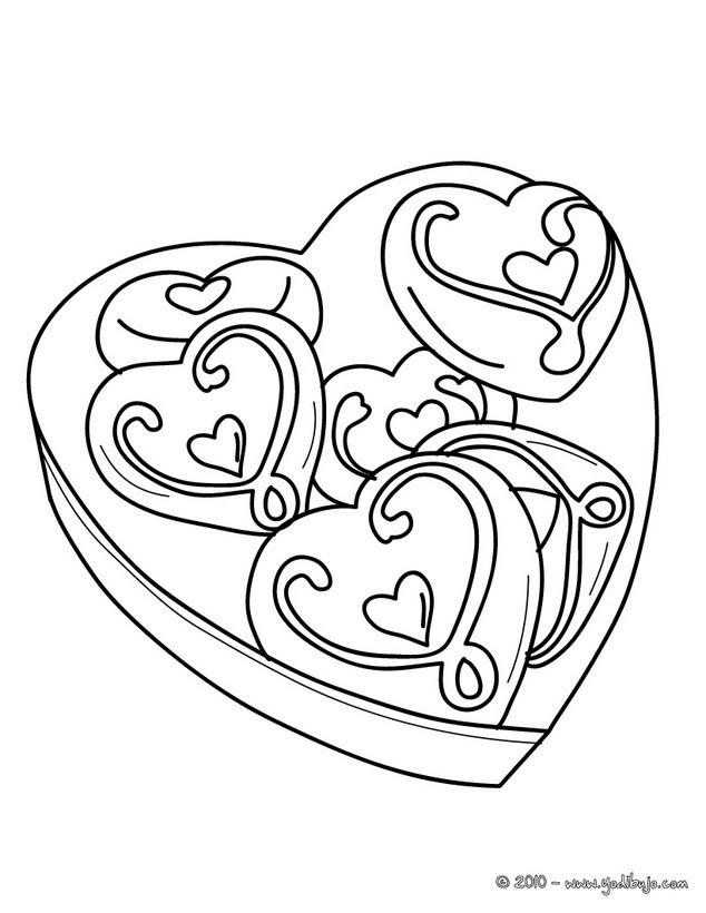 Dibujos Para Colorear Caja Regalo Corazón Eshellokidscom