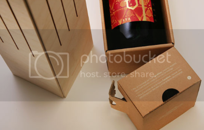Separate wooden structure & cardboard casing of Wine-Box-Lamp