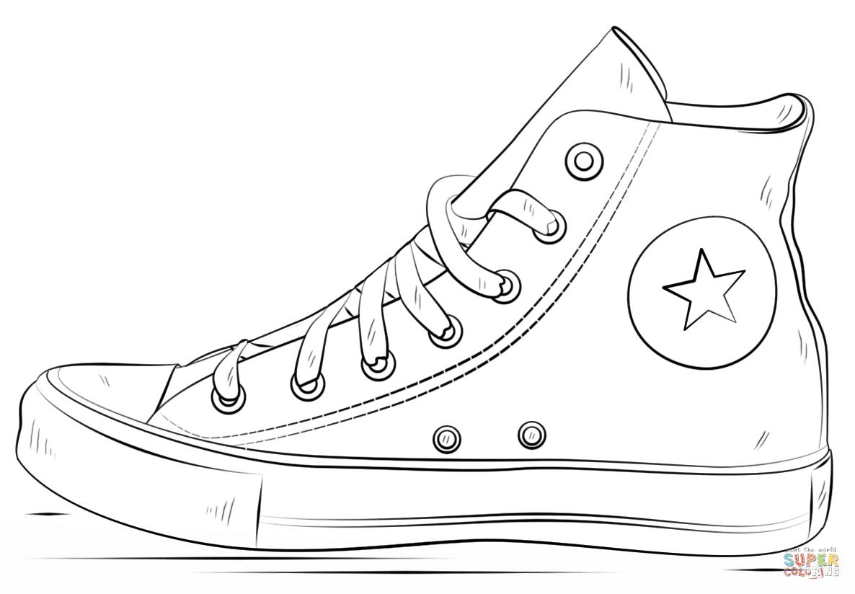 er sur la Chaussures Converse coloriages