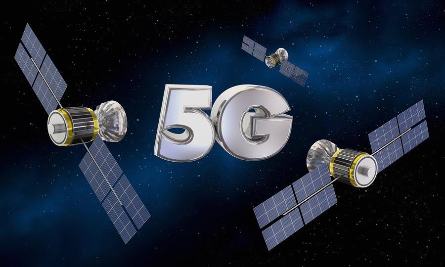 5G Wireless Internet Service Satellite Signal 3d Illustration