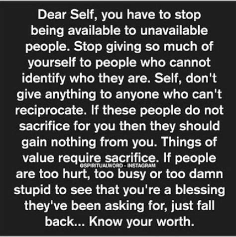 Know Your Own Self Worth Quotes