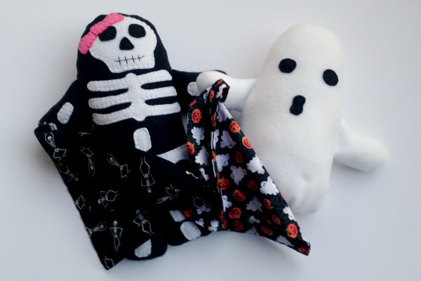 Skeleton Blankie Buddy - With Ghost - Felt With Love Designs