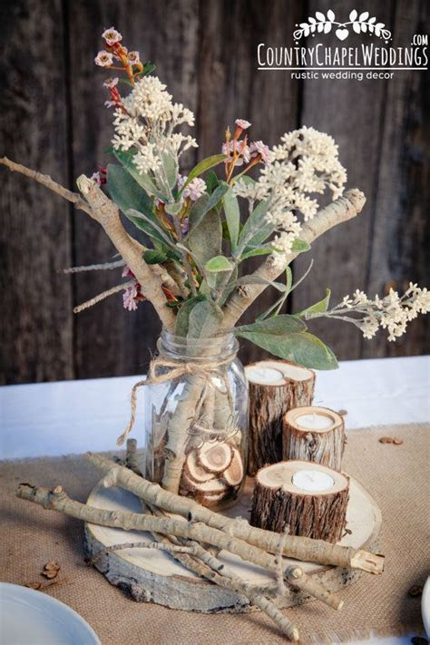 Aspen Twig Bundle Rustic wedding centerpiece by