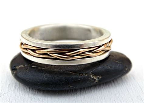 Buy a Custom Made Celtic Wedding Band Men, Gold Braided