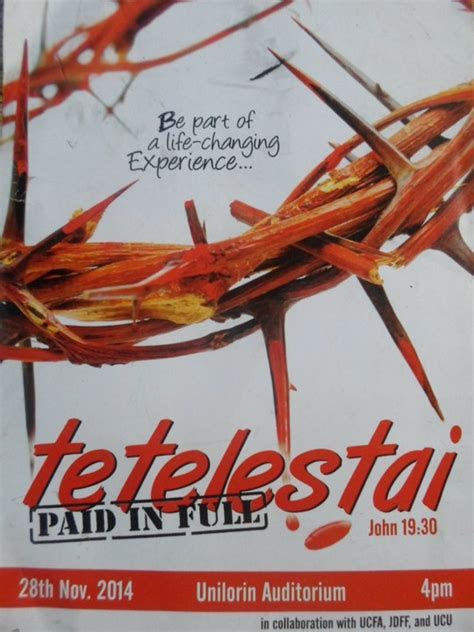 UNILORIN Christian Body Presents   TETELESTAI (paid In