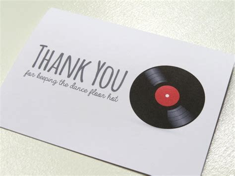 Wedding Card for Your DJ or Sound Technician   Thank You