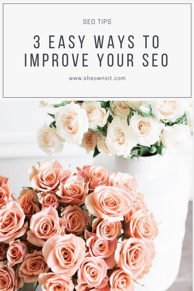 3 Easy Ways To Improve Your SEO by Dana Fiddler for SheOwnsIt