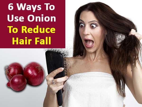 6 Ways To Use Onion To Reduce Hair Fall - Boldsky.com