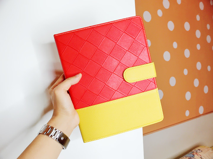 read and yellow ipad cover