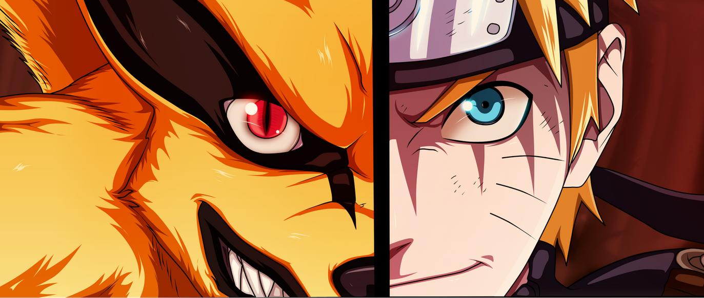 Naruto and Kurama by narutoooo5 on DeviantArt