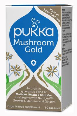 Mushroom Gold - Integratore di fungo Maitake, Reishi e Shitake