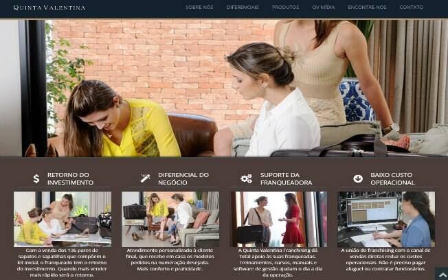 A Quinta Valentina comercializa sapatos femininos por meio de venda direta. Trabalha com um mix de 60 modelos - Valor de investimento: Entre R$ 22 mil e R$ 25 mil. Foto: Divulgação