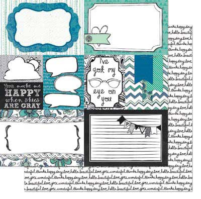 Bo Bunny Zip-A-Dee Doodle Collage