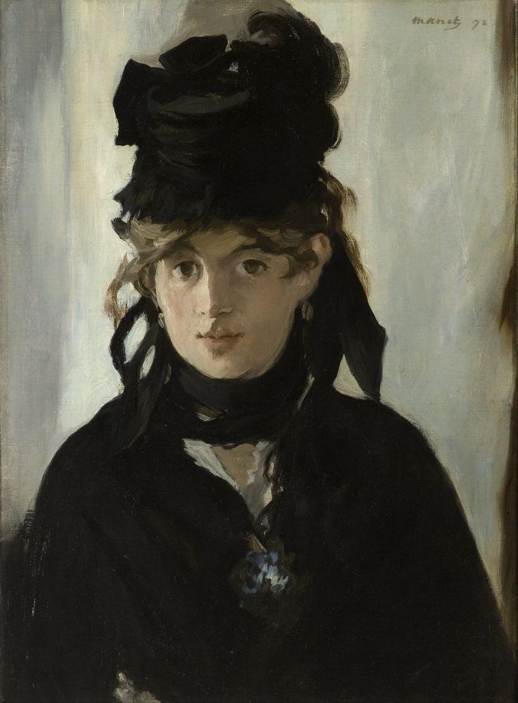 Édouard Manet: Berthe Morisot con un ramo de violetas