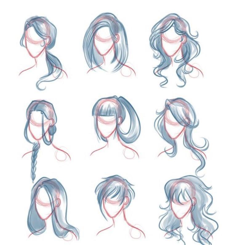 Hair Tutorial Drawing at GetDrawings | Free download