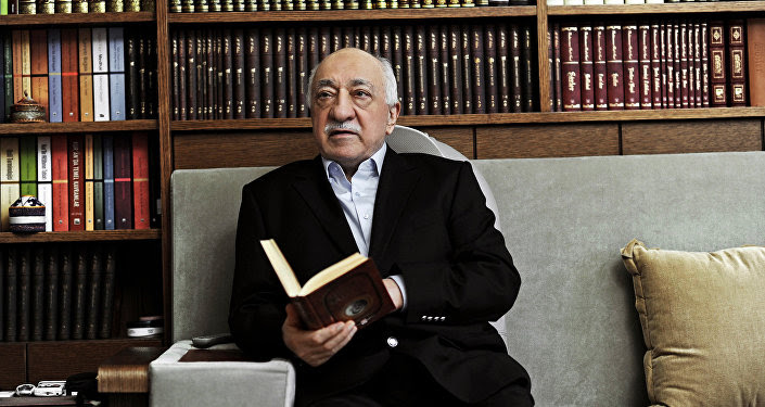 FILE – In this March 15, 2014 file photo, Turkish Muslim cleric Fethullah Gulen, sits at his residence in Saylorsburg, Pennsylvania, United States.