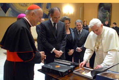Benet XVI amb Camps, Rita Barberà i Rus